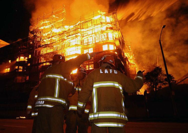 В подмосковных Химках полыхает пожар. Жертв и пострадавших нет