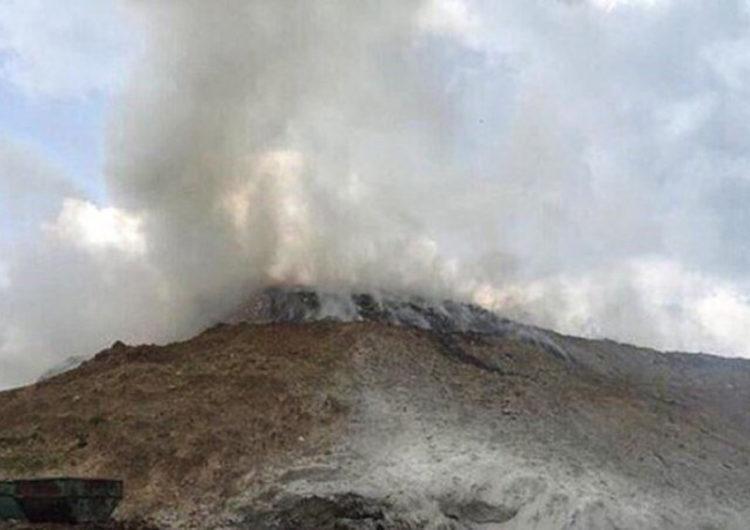 Мусорный полигон горит в Серпуховском районе