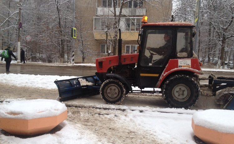 За сутки с дорог Подмосковья вывезли более 1,7 тысячи кубометров снега