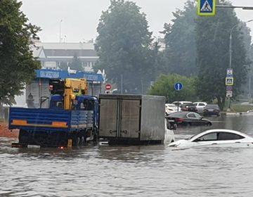 В Шереметьево произошло подтопление подъезда к терминалу B