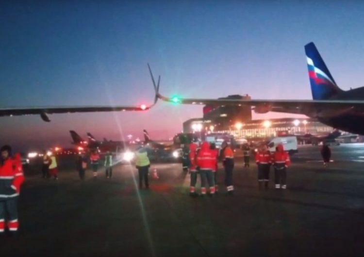 В Шереметьево при меневрировании столкнулись два самолёта