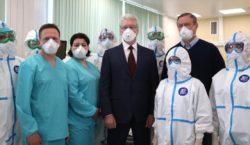 Собянин открыл построенную за месяц инфекционную больницу в Вороновском