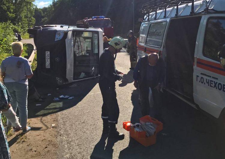 В ДТП в Подмосковье пострадали девять человек