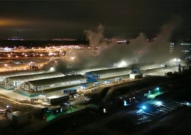 В строящемся корпусе больницы в Коммунарке произошла разгерметизация кислородной линии