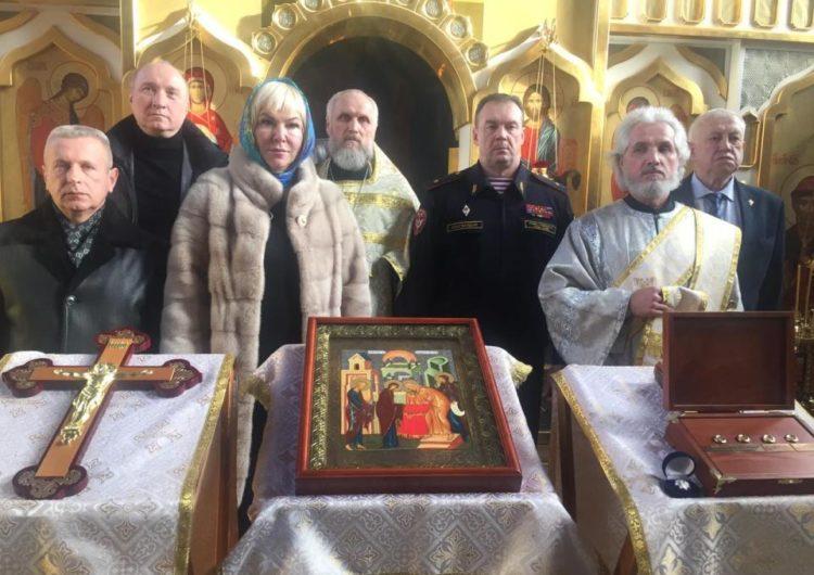 Православные святыни передали по программе «Духовное укрепление российского воинства» столичному храму