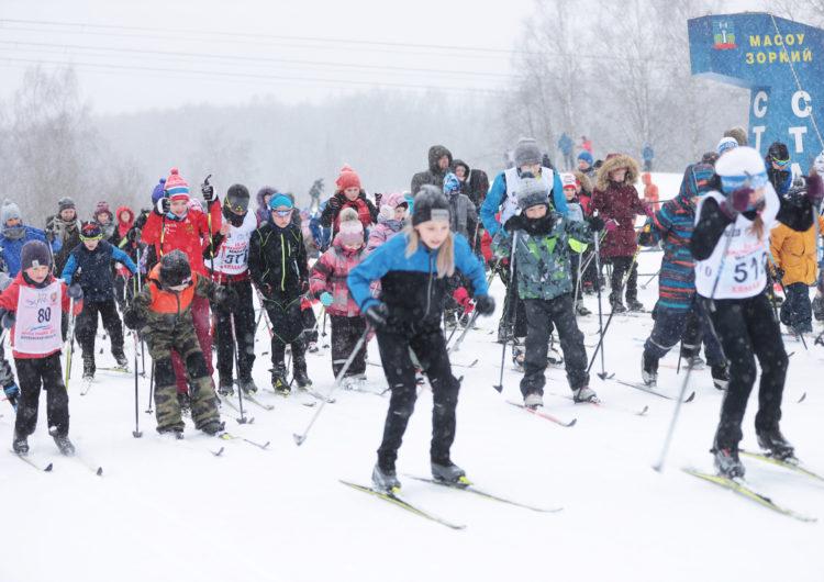 В Красногорске прошел лыжный забег по проекту «Национальный триатлон – 2021»